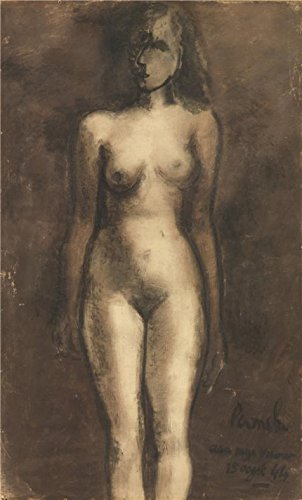 Oil Painting 'Constant Permeke - Standing Nude, 1913', 18 x 30 inch / 46 x 76 cm , on High Definition HD canvas prints is for Gifts And Dining Room, Hallway And Kitchen Decoration, graphs