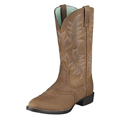 Ariat Ladies Heritage Stockman Saddle Vamp Cowgirl Boot Round Toe by Ariat