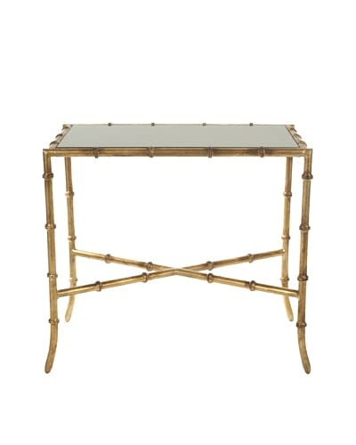 Safavieh Chandler Accent Table, Glass/Gold