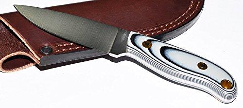 Battle Horse Knives Jm Custom Black & White G10/Flat Grind
