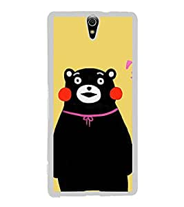 Cute Bear 2D Hard Polycarbonate Designer Back Case Cover for Sony Xperia C5 Ultra Dual :: Sony Xperia C5 E5533 E5563