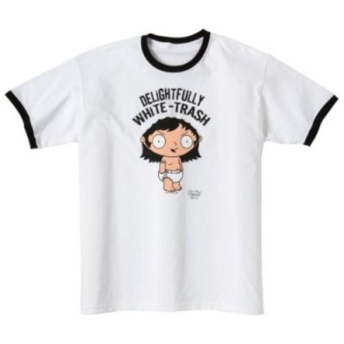 Family Guy - T-Shirt White Trash (in S)