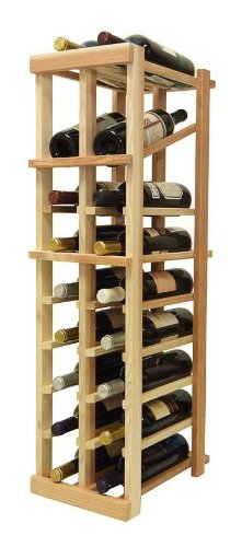 3 Ft. 2-Column Wine Rack (All-Heart Redwood - Unstained) front-531720