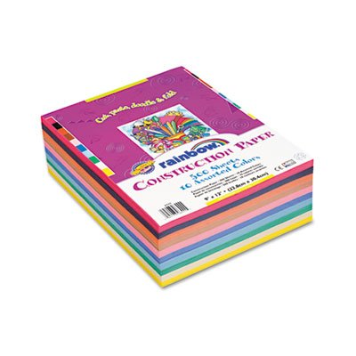 Rainbow-Super-Value-Construction-Paper-Ream-45-lb-9-x-12-Assorted-500-Sheets-Sold-as-1-Ream