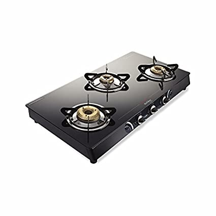Sparkle Glass GTS 104 Gas Cooktop (3 Burner)