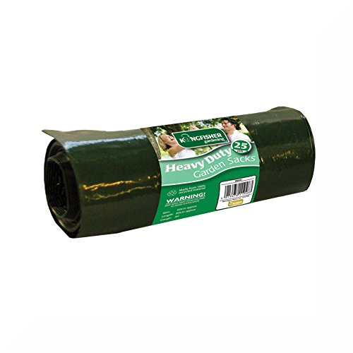 25x Verde Resistente 75L Sacchi per rifiuti da giardino