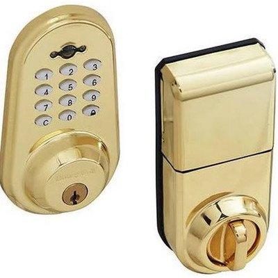 honeywell 8613309 digital door lock and deadbolt with remote satin chrome ha. Black Bedroom Furniture Sets. Home Design Ideas