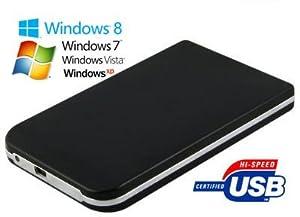 "Allcam 2.5"" Hard Drive Enclosure Aluminium Caddy Black for 2.5"" ATA/ IDE Laptop HDD USB2.0"