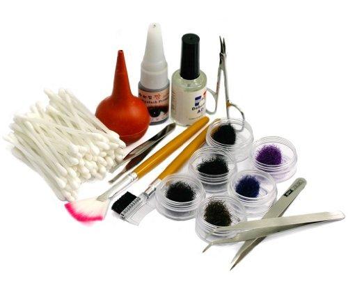 PRO Kit Faux Cils Cil Extension Greffe Naturel Yeux Maquillage 3 Tailles Différentes 16 PCS