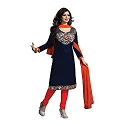 Krishna Present All New wedding Wear Embroidered Multi Color Dress Meterial.