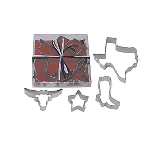 Dress My Cupcake Texas State 4-Piece Cookie Cutter Set