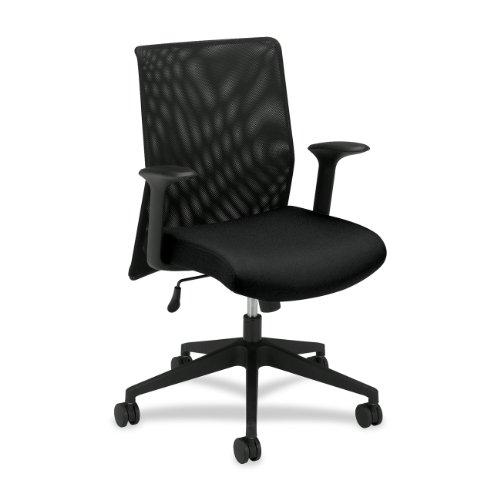 HON HVL571 Mid-Back Mesh Back Chair for Office or Computer Desk, Black