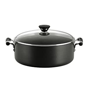 Circulon Acclaim Hard Anodized Nonstick 7-1 2-Quart Covered Wide Stockpot by Circulon