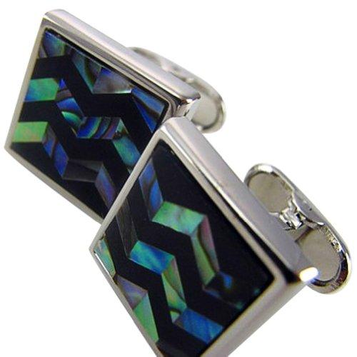Worldfashion Fashion Abalone Shell Surface Cufflink Men's Easy-match Round Men's Cufflinks Come In a Nice Gift Box by WorldFashion