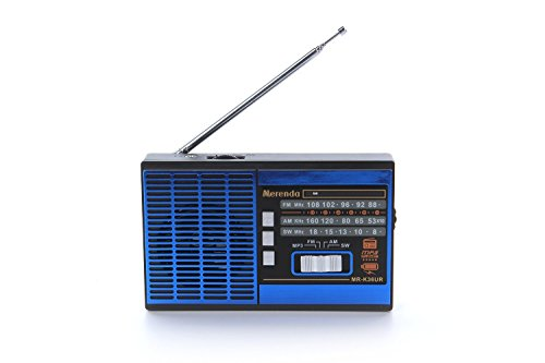 Niceshop® Mr36 Portable Full Band Fm Stereo Shortwave 3 Band Radio with Mp3 Player Support Usb/tf/fm/am /Sw for Parents Old People,blue