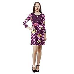 Mansi Collections Women's Sheath Pink Dress (Large)