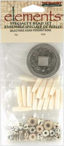 The Beadery Elements Selections Bead Assortment - Asian Pendant/Bone