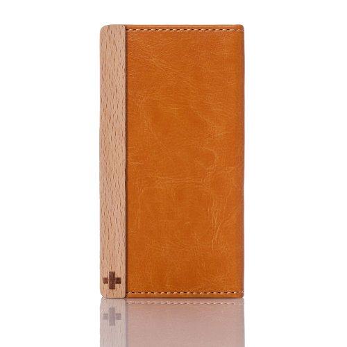 Simplism iPhone 5/5S 横開きPUレザーケース スタンド機能/ストラップホール/カードスロット搭載 オレンジ TR-FNIP13-OR