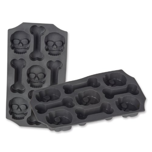Beistle Beistle Skull and Bones Ice Mold, Gray