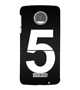 No 5 3D Hard Polycarbonate Designer Back Case Cover for Motorola Moto Z :: Motorola Moto Z Droid in USA