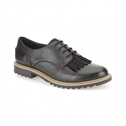Clarks Griffin Mabel 26101099 Womens black Leather Lace Ups 41.5 EU (9.5 M US Women)