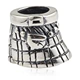 Kilt In The Wind - Sterling Silver Charm Bead - fits Pandora, Chamilia etc style Bracelets - SpangleBead