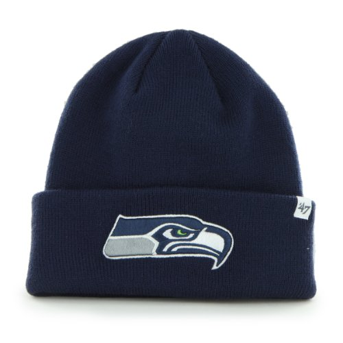 NFL Seattle Seahawks '47 Brand Raised Cuff Knit Cap, Light Navy, One Size at Amazon.com