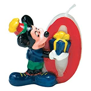 Disney Mickey Mouse Candle Number 0