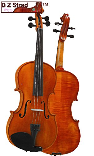 D Z Strad Violin Model 101 with Solid Wood 4/4 Full Size with Case, Bow, and Rosin (1/10 - size) (Tamaño: 1/10 - size)