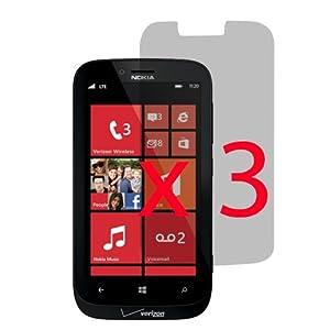 EZ LCD Screen Film Guard Screen Protector for Verizon Nokia Lumia 822 x3 -Clear