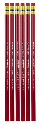 sanford-20045-col-erase-pencil-w-eraser-carmine-red-lead-barrel-pack-of-6-by-sanford-lp