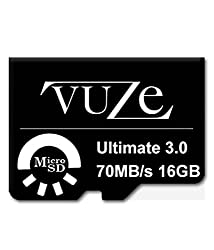 Vuze Ultimate3.0 64GB & 16GB Memory Cards Pack Of 2-Black
