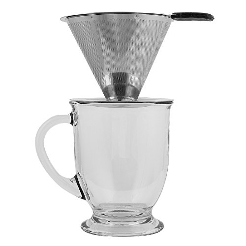 Clever Coffee Dripper - Personal, Atomic Coffee Brewer Made Of Stainless Steel - Portable ...