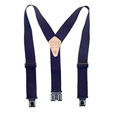 Perry Suspender Men's 2'' Elastic Original Adjustable Suspenders (Navy)