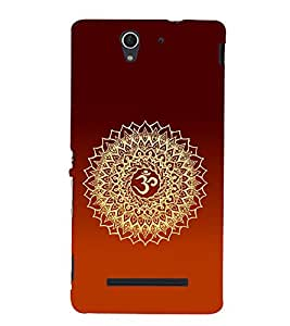 Om Mantra Hindu Cute Fashion 3D Hard Polycarbonate Designer Back Case Cover for Sony Xperia C3 Dual :: Sony Xperia C3 Dual D2502