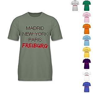 F140 - Herren, Männer, Jungen T Shirt, Valueweight Tee, kurzarm, Rundhalsausschnitt, bewährte Qualität - Städte - Weltstadt Freiburg