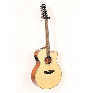 yamaha cpx700ii 12 12 string cutaway acoustic electric guitar natural. Black Bedroom Furniture Sets. Home Design Ideas
