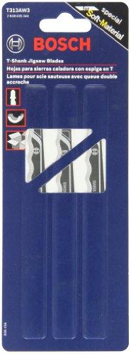Bosch T313AW3 6-Inch Knife Edge Jigsaw Blade, 3-Pack