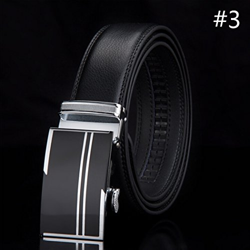 Automatic-Buckle-Waistband-Mens-Belts-Waist-Strap-Fashion-Genuine-Leather-Belt