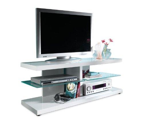 TV-Schrank-Fernsehboard-Wei-Hochglanz-Glas-Harvey