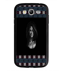 PrintDhaba Girl Face D-5775 Back Case Cover for SAMSUNG GALAXY GRAND I9082 (Multi-Coloured)