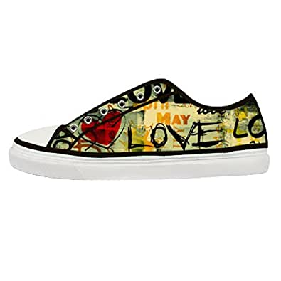 "Amazon.com: GCKG(TM) Men's ""Love"" Letetr Graffiti Personalized Canvas"