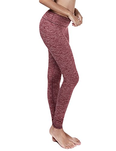 Yoga Reflex - Women's Breathable Workout Pants with Hidden Pocket, RED, L (90 Degree Panel compare prices)