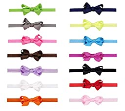 Baby Girls Grosgrain Hair Bow Clips with Interchangeable Headbands(28 Pack)