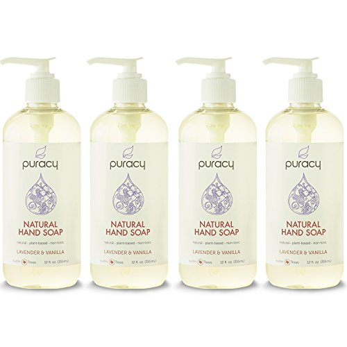 puracy-natural-liquid-hand-soap-sulfate-free-lavender-vanilla-12-ounce-bottle-pack-of-4