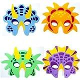 6 dinosaur face masks eva certified party bag fillers