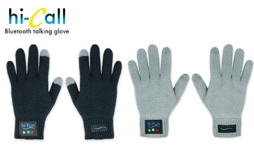 スマホ 手袋 hi-call ハイコール Bluetooth ブルートゥース トーキング グローブ (レディース/ブラック) 【イタリア発の魔法の手袋!気分はエスパー!電話のジェスチャーで本当に通話できる手袋】