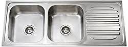 Jayna DBSD01(A) Mercury Double Bowl with Single Drain Board Sink
