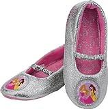 Ideal Disney Princess Girls' Grey Slippers - Size 8 - Cleva® Bundle Edition