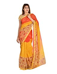 Asmara Collection Women's Cotton Silk Saree (SARARH00025, Multicolor)